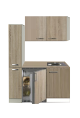 Kitchenette 130cm met koelkast POTTO-6444