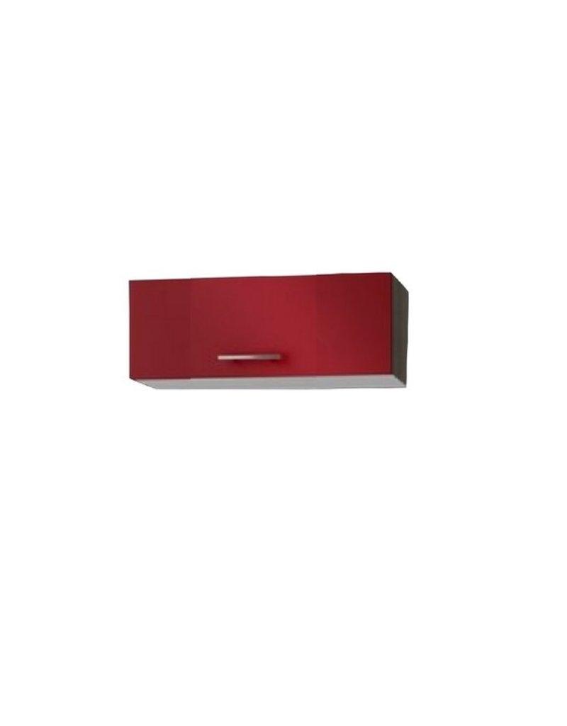 Wandkast met klepdeuren signaal rood (BxHxD) 60x34x34 cm