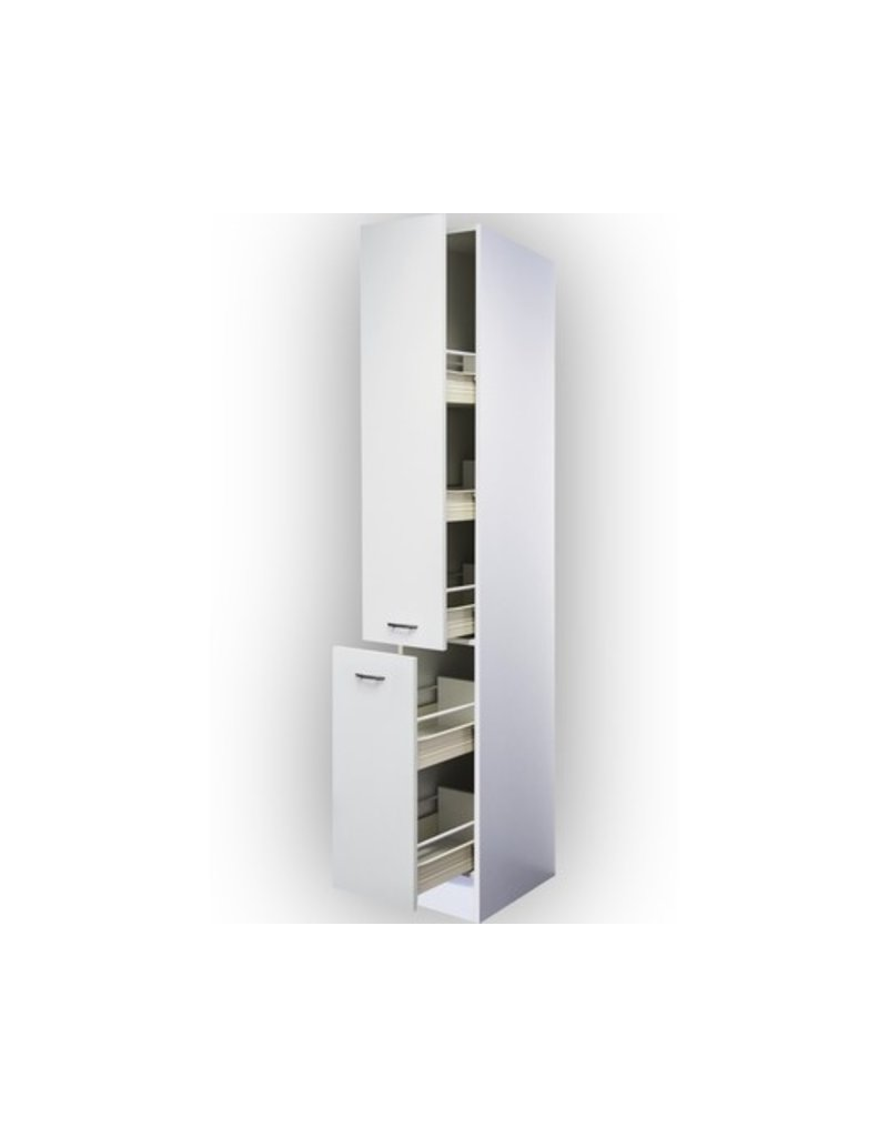 Apothekerskast klassiek wit met 5 laden 211 cm hoog  KIT-5180