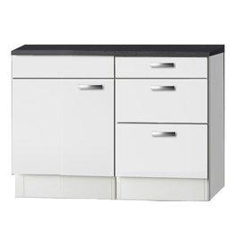 Keukenblok wit hoogglans 110cm KIT-244