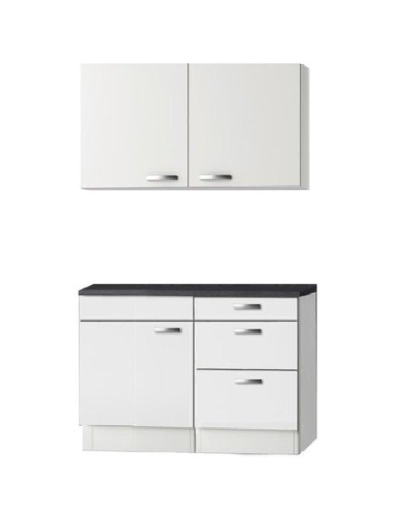 Keukenblok wit hoogglans 110cm KIT-2441