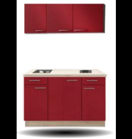 keukenblok Rood hoogglans 130CM KIT-5219