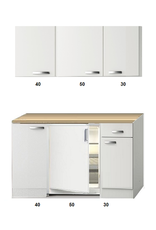 Kitchenette 120 CM incl koelkast en bovenkasten KIT-2258