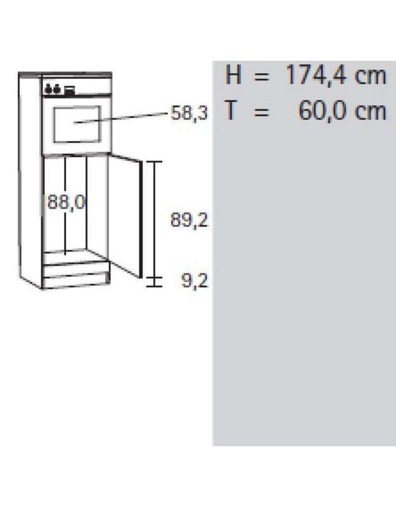 Hogekast Antraciet tbv inbowoven 174 x 60 x 60 MH660