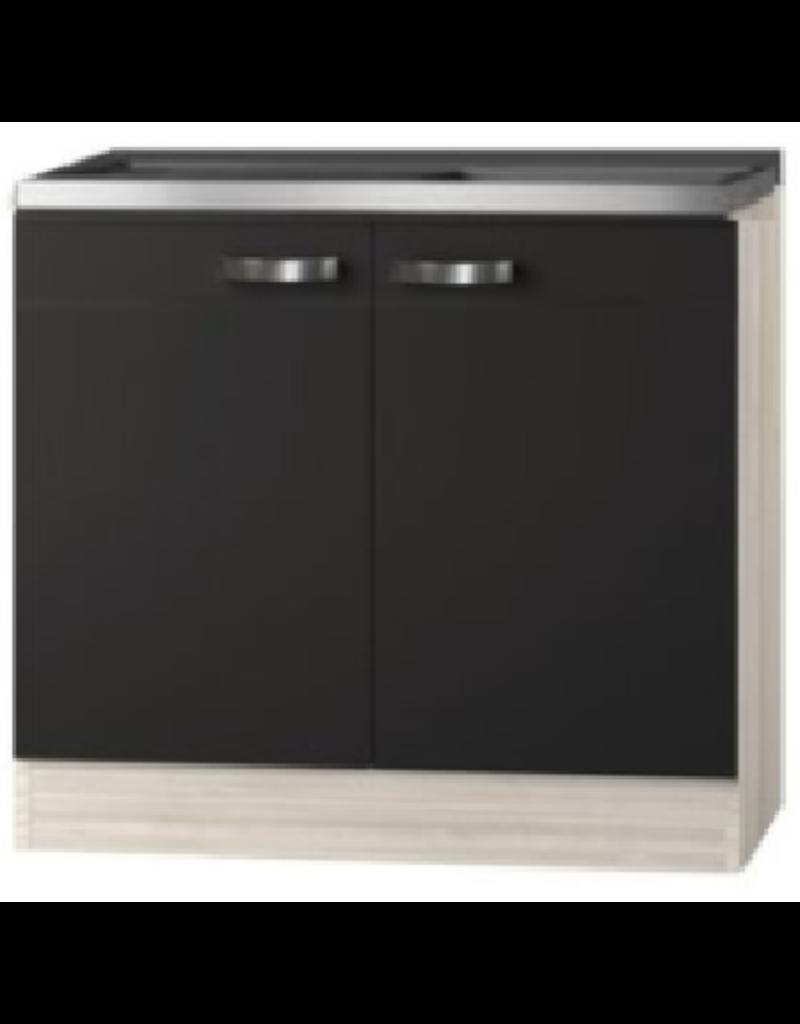 Keukenblok Faro Antraciet  100cm zonder wandkasten KIT-3330