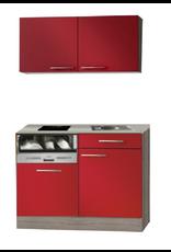 Kitchenette 120cm Rood glans incl al inbouw vaatwasser KIT-2326
