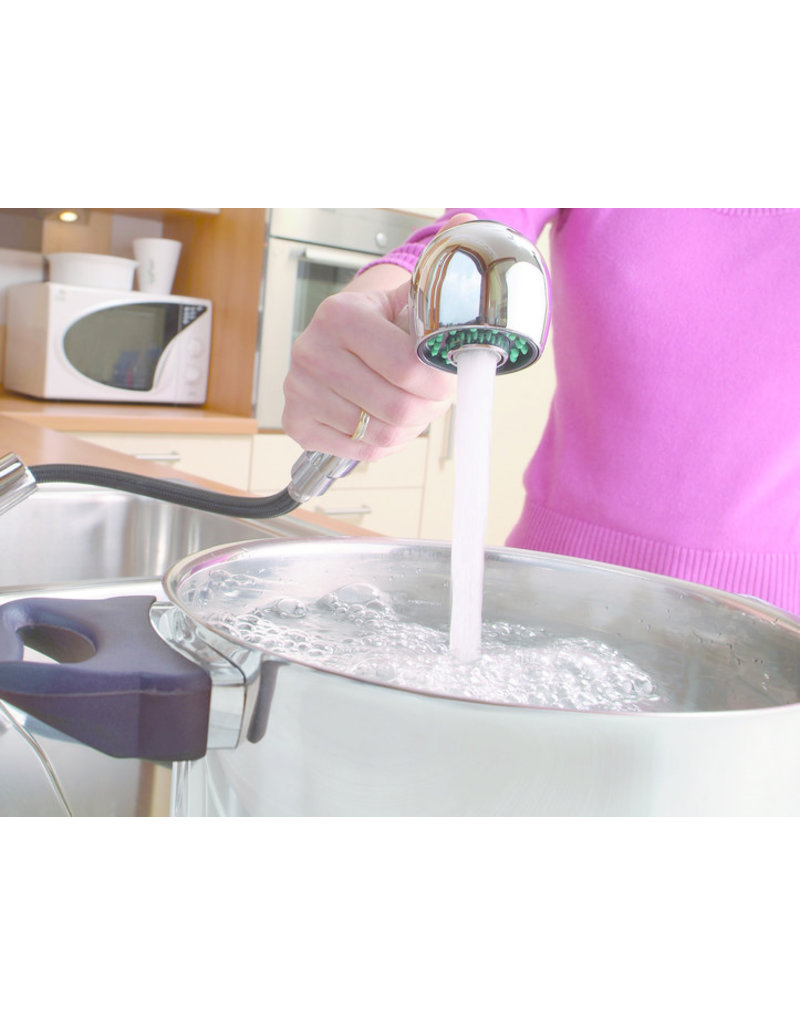 Lage druk keukenkraan ULTRA ééngreepsmengkraan keuken uittrekbare sproeier, chroom KIT-335
