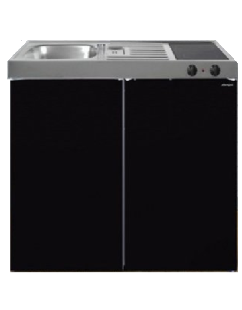 MK 100 Zwart Metalic met koelkast  KIT-9522