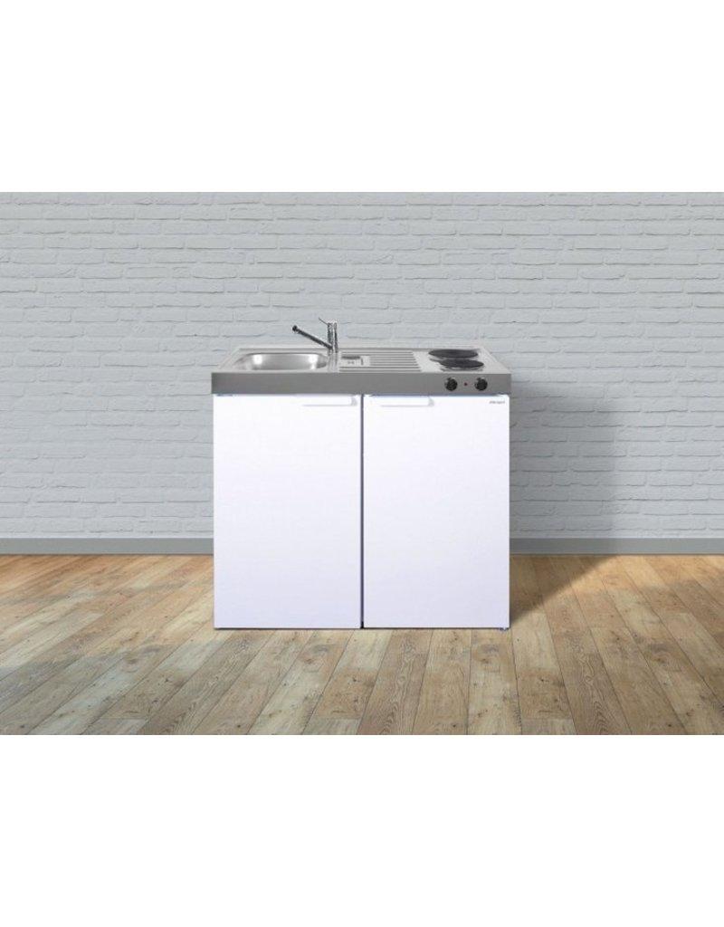 MK 100 Wit met koelkast  KIT-9525