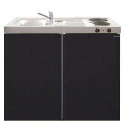 MK 100 Zwart mat met koelkast  KIT-9527
