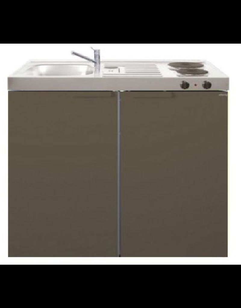 MK 100 Bruin met koelkast  KIT-9528