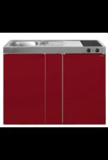 MK 120B Bordeauxrood met koelkast  KIT-9533