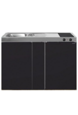MK 120B Zwart mat met koelkast  KIT-9535