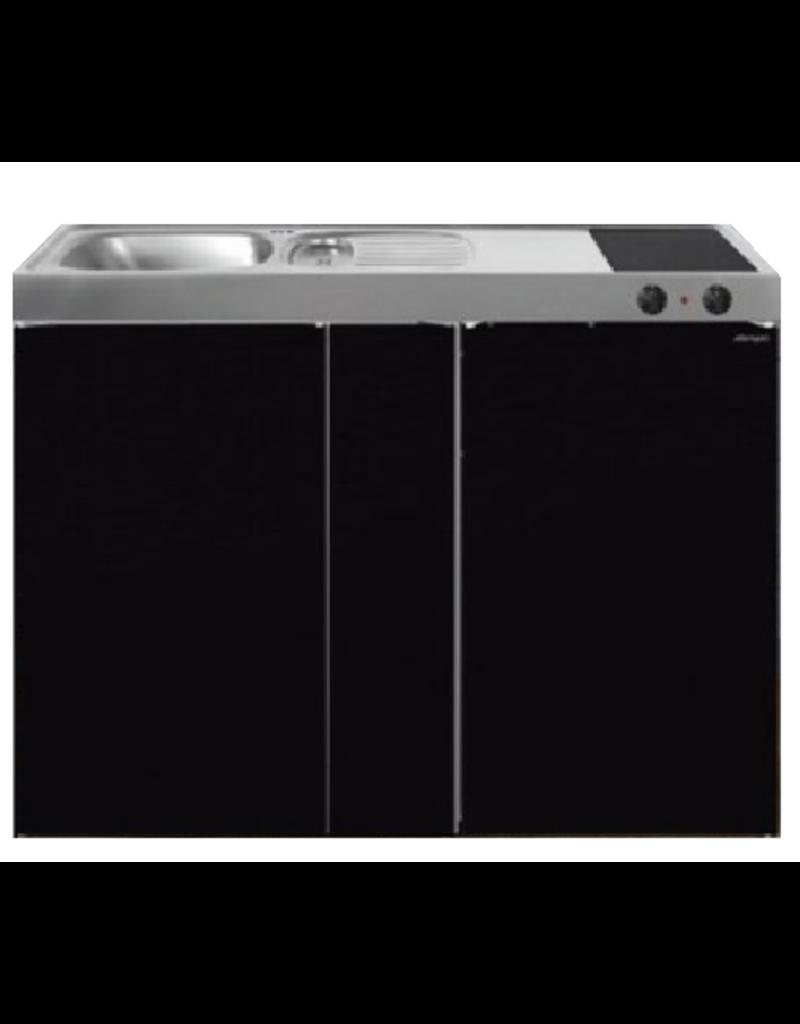 MK 120B Zwart metalic met koelkast  KIT-9536
