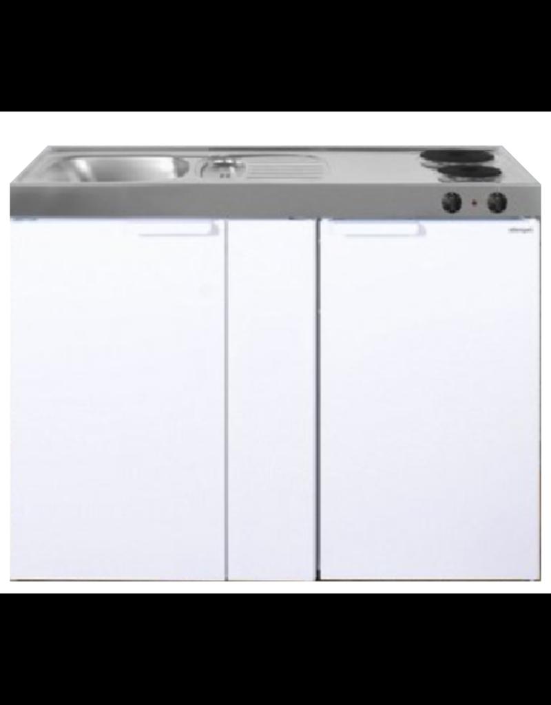 MK 120B Wit met koelkast  KIT-9537