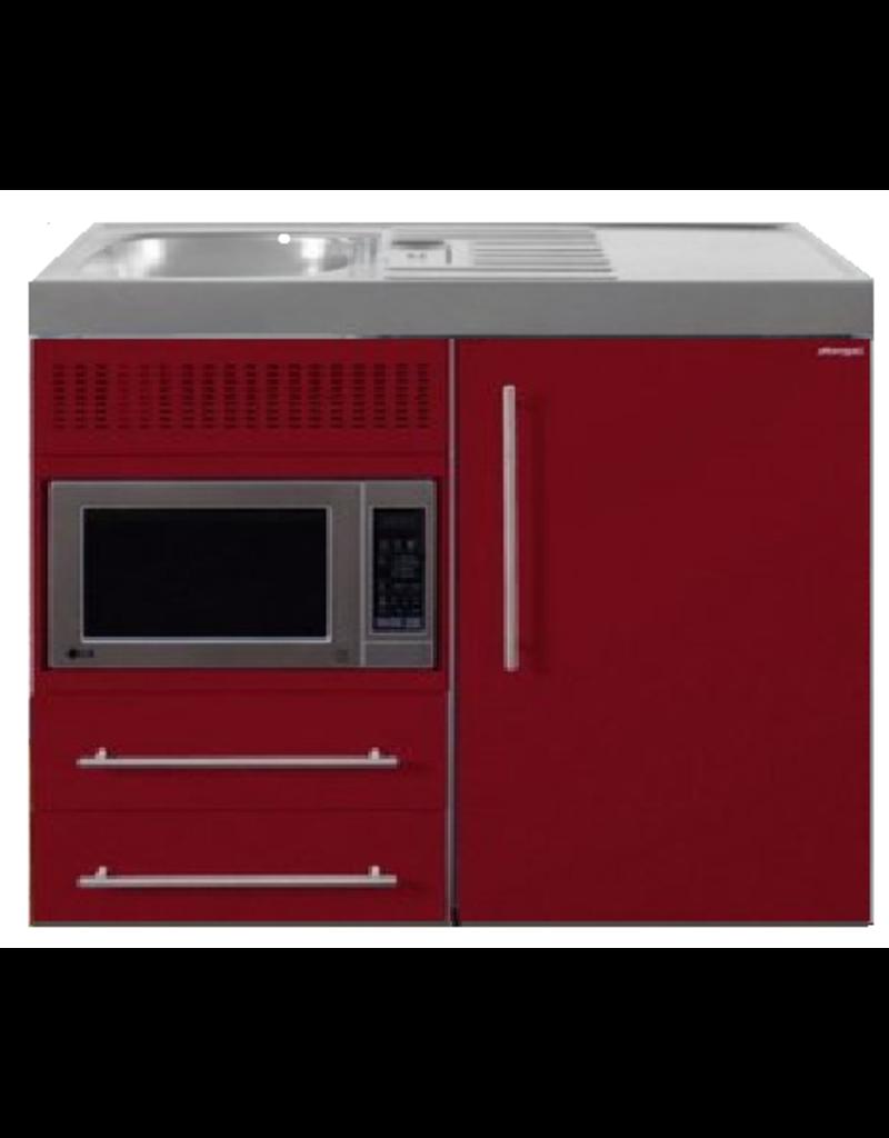 MPM 100 Bordeauxrood met koelkast en magnetron KIT-9513