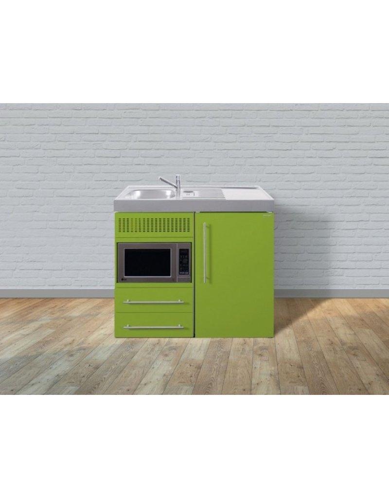 MPM 100 Groen met koelkast en magnetron KIT-9515
