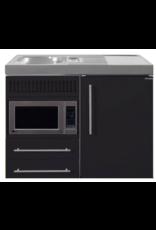 MPM 100 Zwart mat met koelkast en magnetron KIT-9516