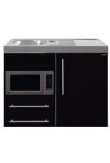 MPM 100 Zwart metalic met koelkast en magnetron KIT-9518