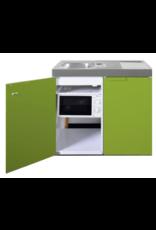 MKM 100 Groen met koelkast en losse magnetron KIT-9571