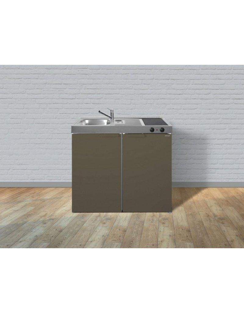 MKM 100 Bruin metalic met koelkast en losse magnetron KIT-9577