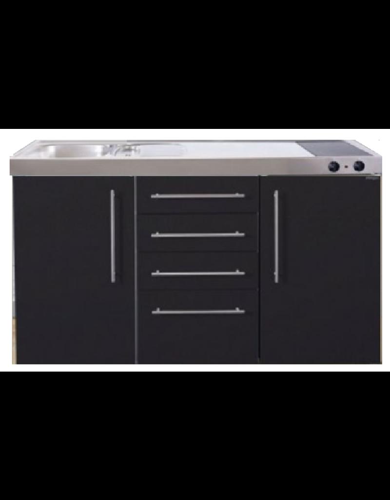 MPS4 150 Zwart mat met koelkast en 4 ladekasten KIT-9537