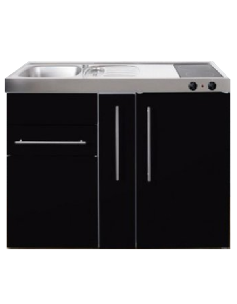 MP 120A zwart metalic met apothekers la en koelkast KIT-9516