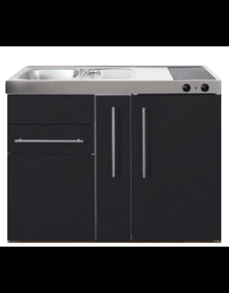 MP 120A zwart mat met apothekers la en koelkast KIT-9517