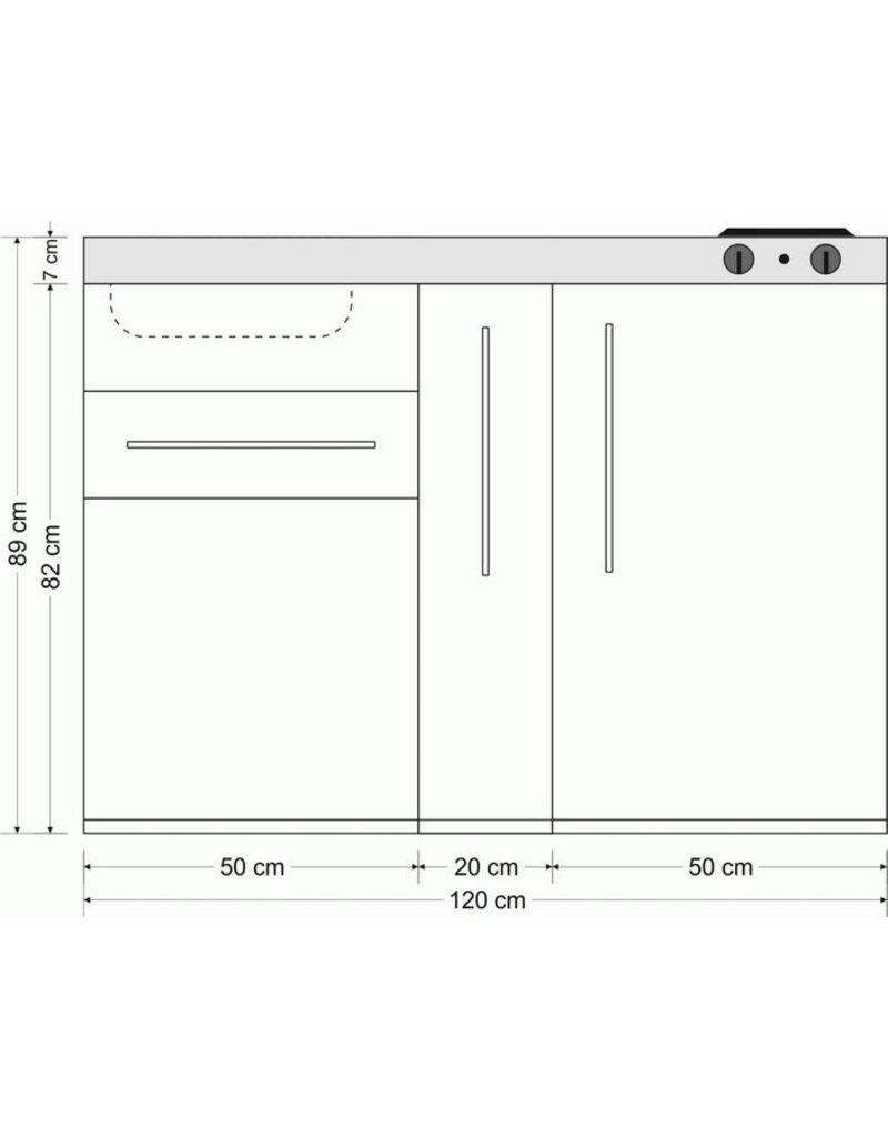 MP 120A Bruin mat met apothekers la en koelkast KIT-9518
