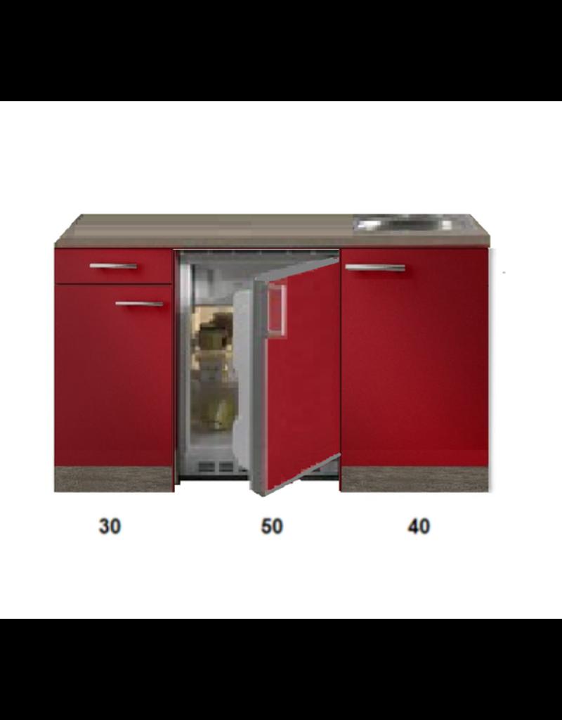 Kitchenette Rood Hoogglans 120cm met bovenkasten KIT-5345