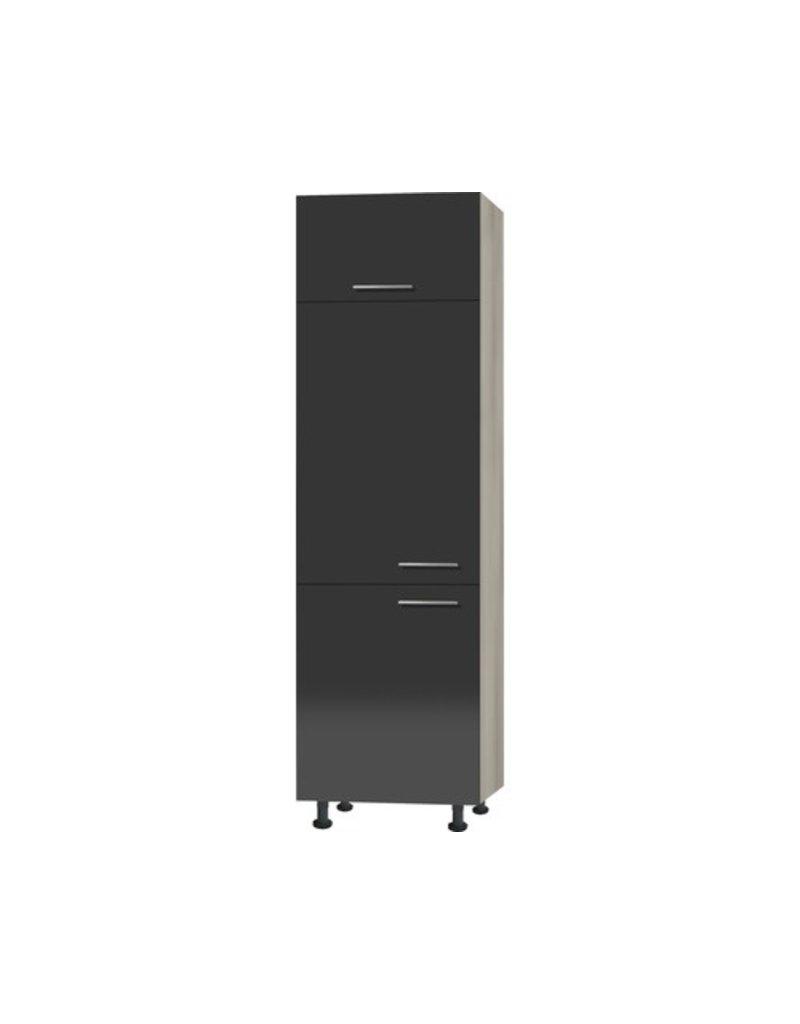 Hogerkast voor inbouw koelkast 60 cm x 211,8 cm x 58,4 cm KIT-3423
