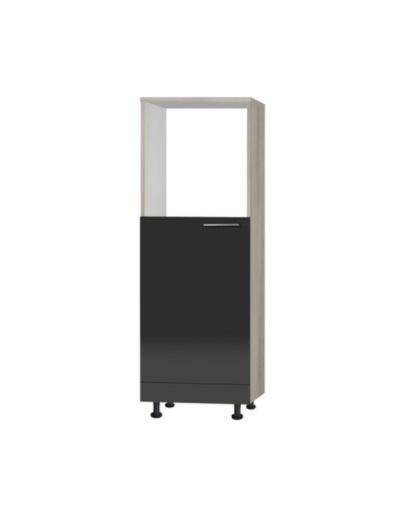 Hogekast voor koelkast en Oven Antraciet hoogglans 60x173,4x58,4cm KIT-44039