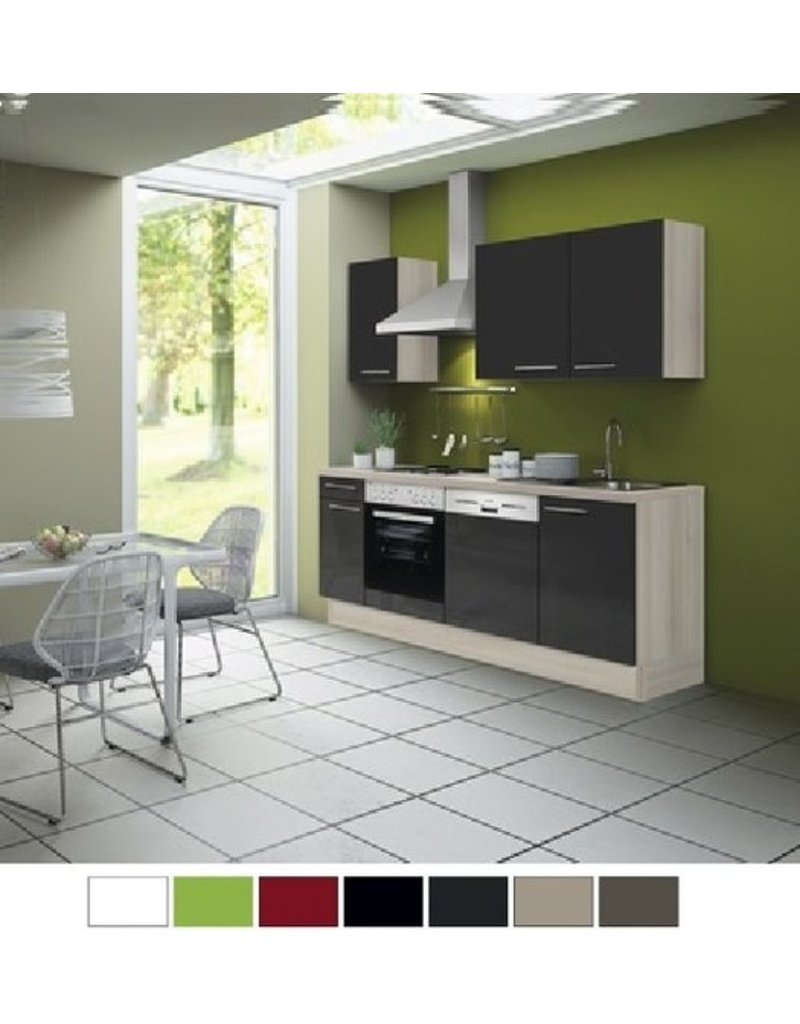Kitchenette 210 antraciet hoogglans incl all apparatuur KIT-0352