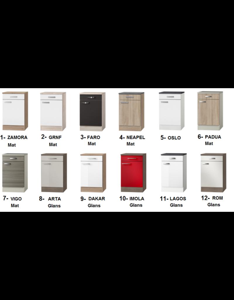 Keukenblok 130cm vigo grijz-bruin met bovenkasten KIT-43131