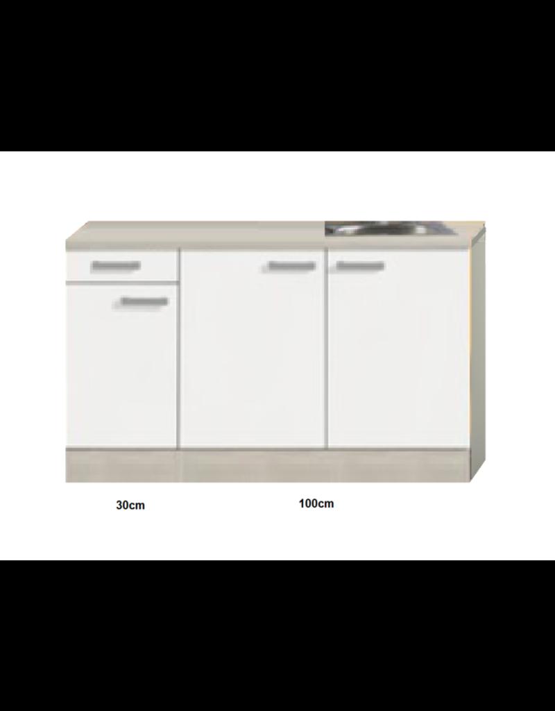 Keukenblok 120cm Genf gebroken wit mat KIT-20111