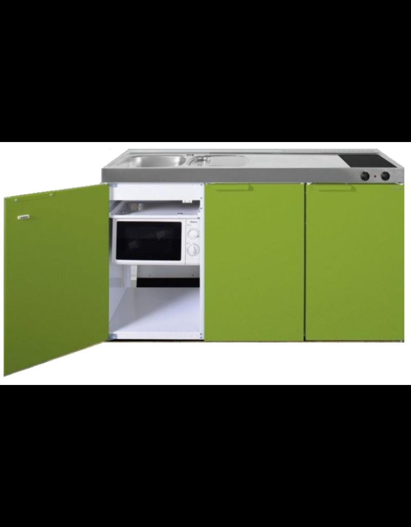 MKM 150 Groen met  losse magnetron en koelkast KIT-335