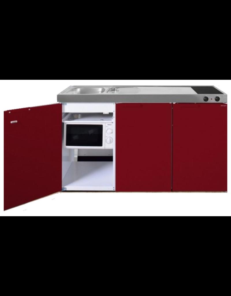 MKM 150 Rood met  losse magnetron en koelkast KIT-336