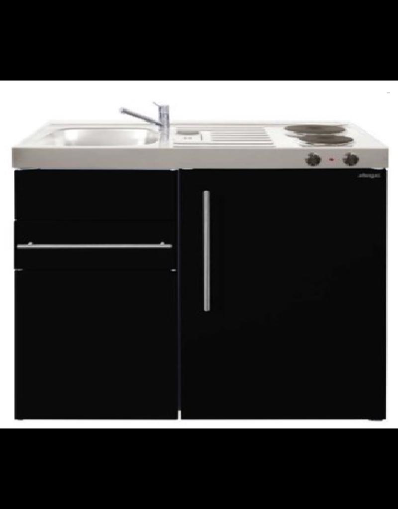 MK 90 Zwart Metalic mat met koelkast en een la KIT-9516
