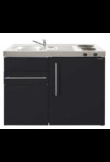 MK 90 Zwart mat met koelkast en een la KIT-9516