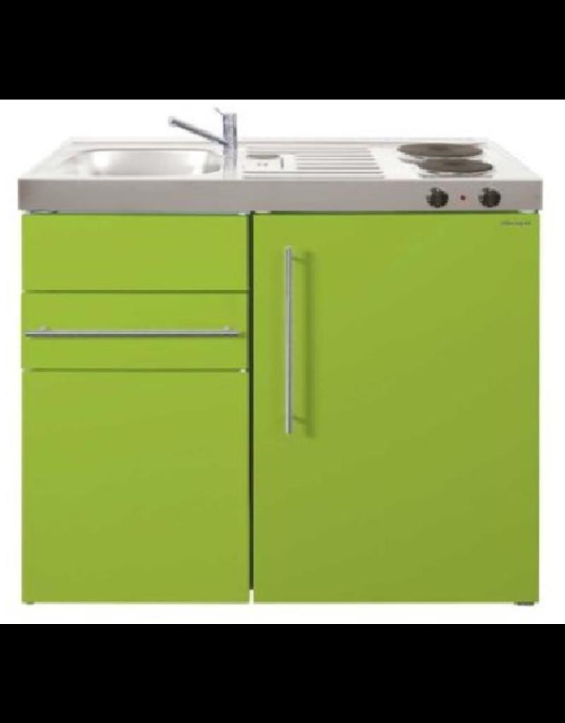 MK 90 Groen met koelkast en een la KIT-9512