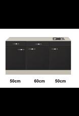 Keukenblok 160 Antraciet incl rvs spoelbak KIT-4492