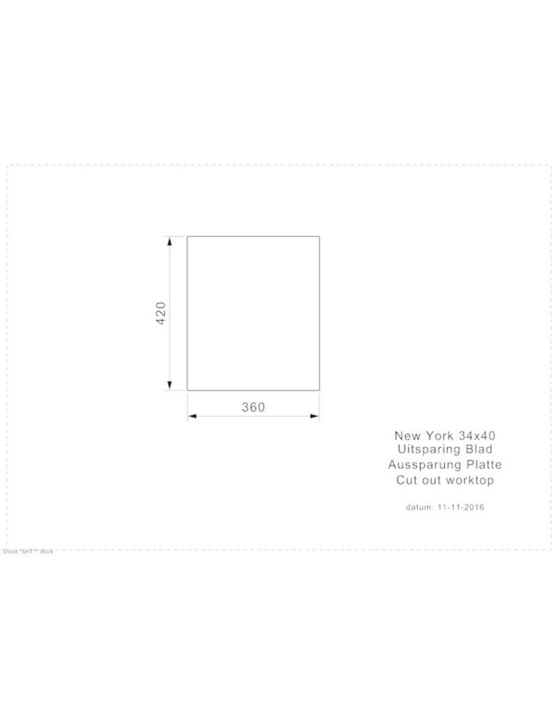 NEW YORK 34X40 (L) INTEGRATED KIT-4352