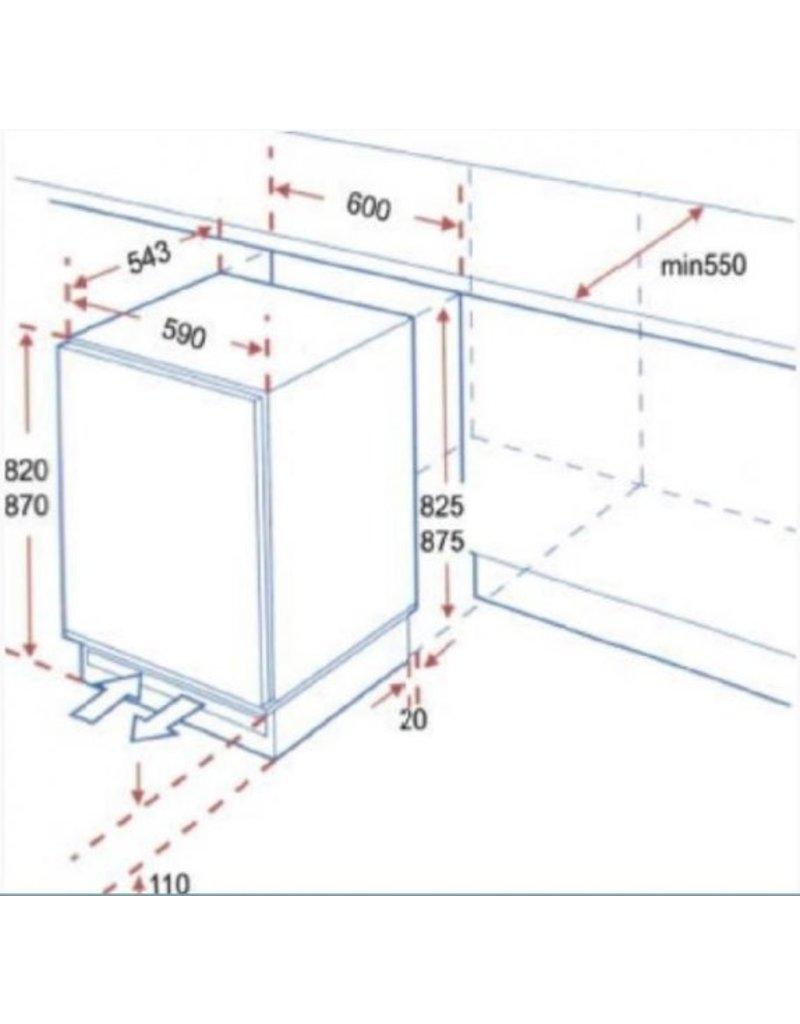 Mini Onderbouw koelkast KS133.0A KIT-031