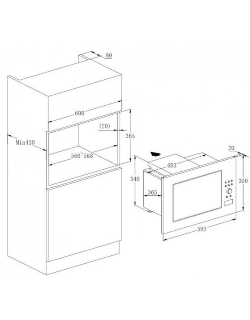 Ingebouwde magnetron MW900-23G-IN KIT-44732