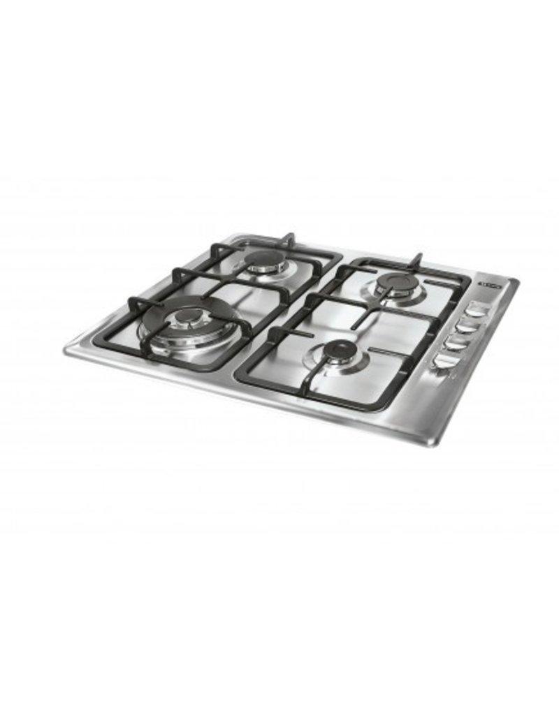 Keukenblok 200cm Antraciet incl gas-kookplaat, afzuigkap en magnetron KIT-11026