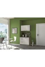 minikeuken 100cm wit-beuken met bovenkasten en e-kookplaat KIT-10012