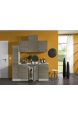 Keukenblok 180 grjs-bruin incl koelkast en e-kookplaat KIT-33401