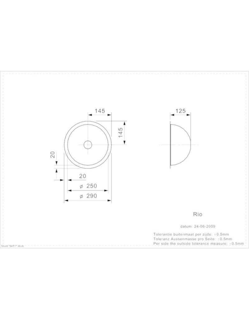 RVS Spoelbak 30cm RIO CC (L) VLAKBOUW KIT-4631