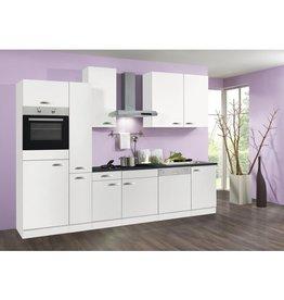 Keuken 300cm wit incl oven, koelkast, kookplaat, vaatwasser en afzuigkap...