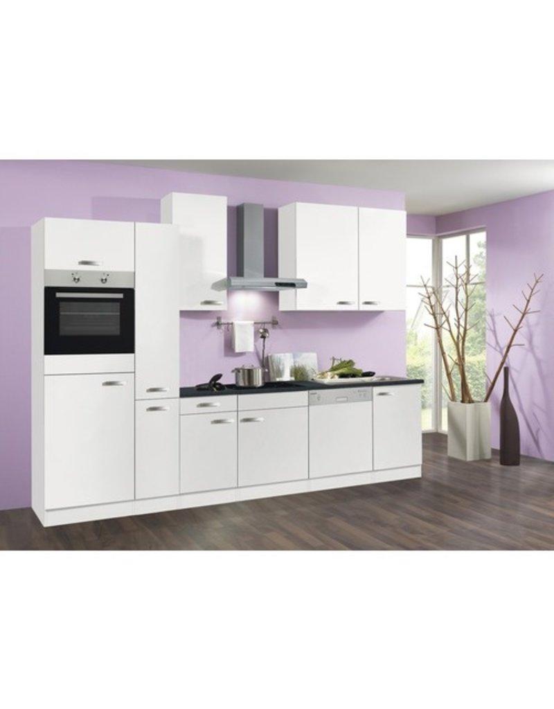Keuken 300cm Wit Incl Oven Koelkast Kookplaat Vaatwasser En Afzuigkap